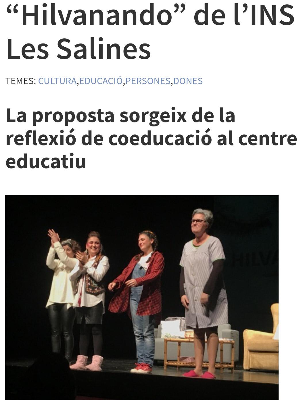 COL.LABORACIÓ INS LES SALINES