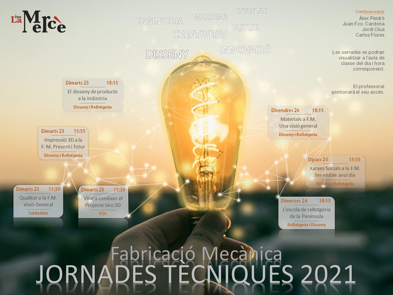 Jornades Tècniques 2021 – Dpt. Fabricació Mecànica