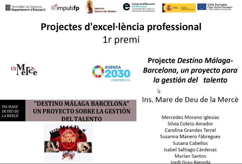 Projecte: Destino Màlaga – Barcelona: 1r Premi IMPULS FP